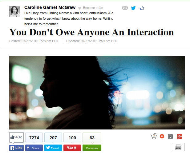 You Don't Owe Anyone An Interaction