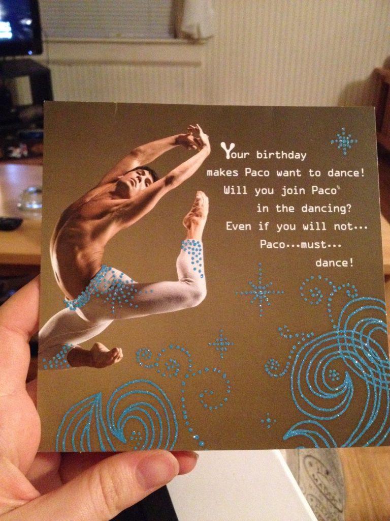 Paco birthday card, thriving