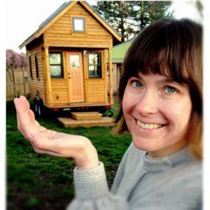 Tammy Strobel and her tiny house